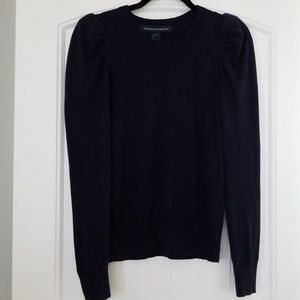 French Connection navy blue cap sleeve sweater.